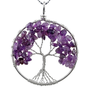 Amethyst Tree of Life Necklace & Pendant