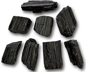 Black Tourmaline Rough Log