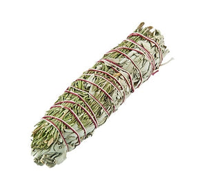 Load image into Gallery viewer, Rosemary & White Sage Wand