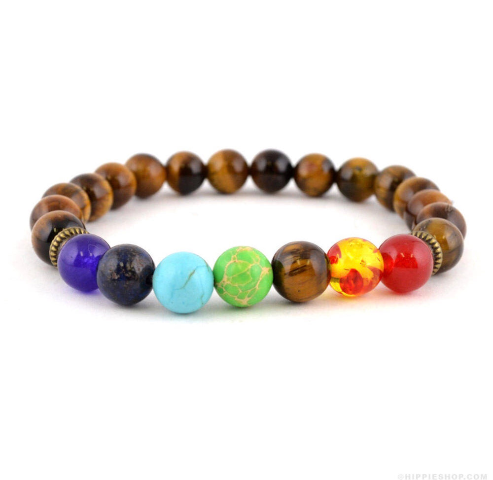 Load image into Gallery viewer, Tiger Eye Chakra Bracelet