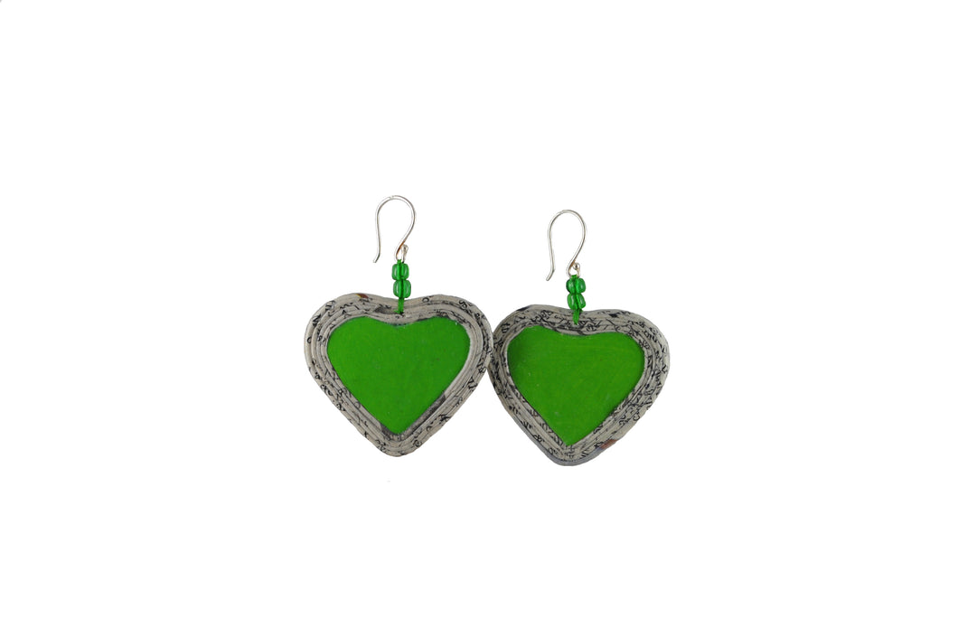 Heart Earring with Stone (Small)