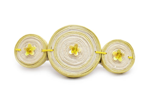 Hairclip (3 Mixed Round Beads) (Large)