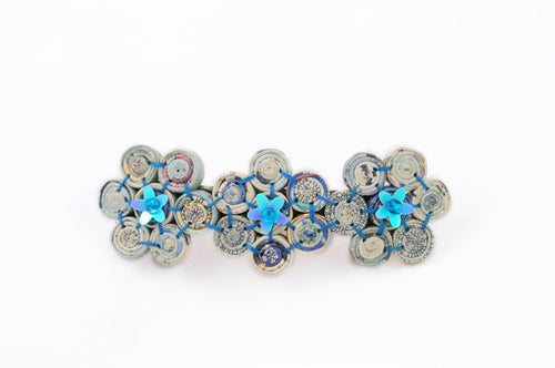 Hairclip (3 flower beads)