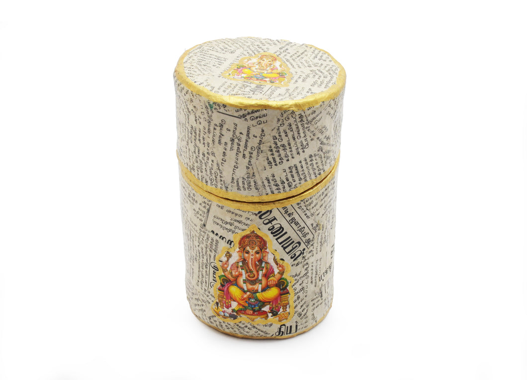 Papier Mache Box (in Tamil Newspaper) - God (Large)