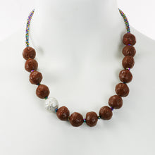Necklace paper Pulp beads