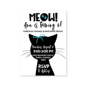 Black Cat Digital Invitation