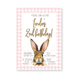 Bunnies & Burlap Digital Invitation