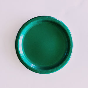 "Mini Mountain Man Forest Green 9"" Dinner Plate"
