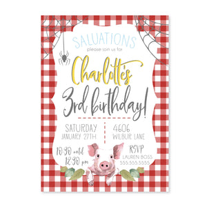 Charlotte's Web Digital Invitation