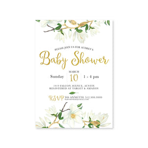Eucalyptus Baby Shower Digital Invitation