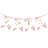 First Communion Pink Watercolor Custom Banner