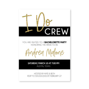 Gold Bachelorette Digital Invitation