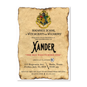 Harry Potter Digital Invitation