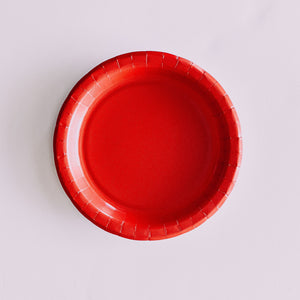"Man on the Moon Red 9"" Dinner Plate"