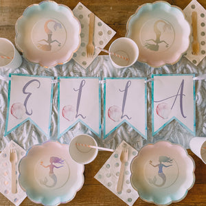Glittering Mermaid Custom Bunting