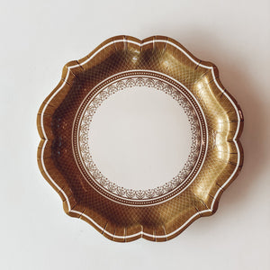Gold Autumn Dessert Plate