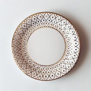 "Gold Autumn 9"" Dinner Plate"