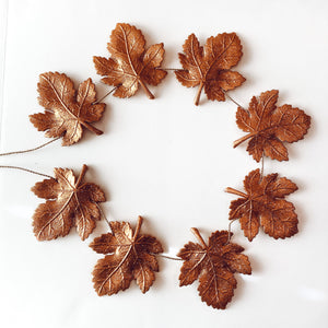 Gold Autumn Shimmering Leaves Garland