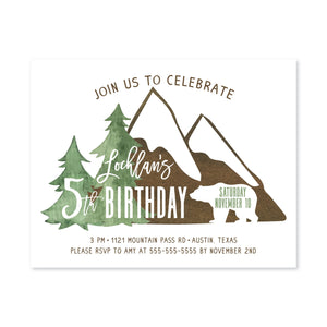 Mini Mountain Man Digital Invitation