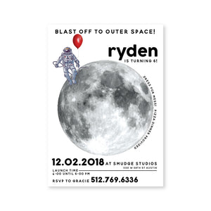 Man on the Moon Digital Invitation