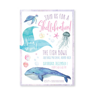 Glittering Mermaid Digital Invitation