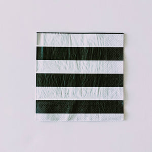 Black& White Striped Napkin