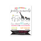 Party Animal Digital Invitation