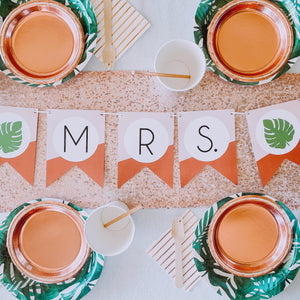 Rose Gold Custom Bunting