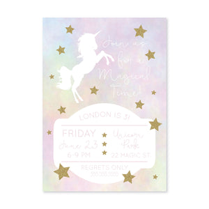 Unicorn Dream Digital Invitation