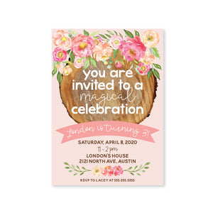 Whimsical Woodlands Digital Invitation