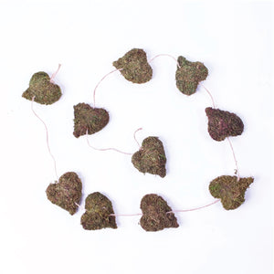 Whimsical Woodlands Mossy Hearts Garland