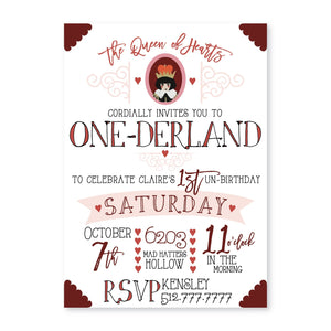 Wonderland Digital Invitation