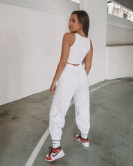 BB Slim Sweat Pants - White