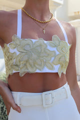 Lucinda Embroidered Crop