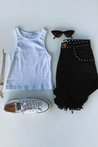 BB Basic Tank in White