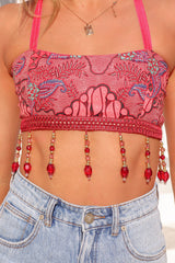 Bella Beaded Crop