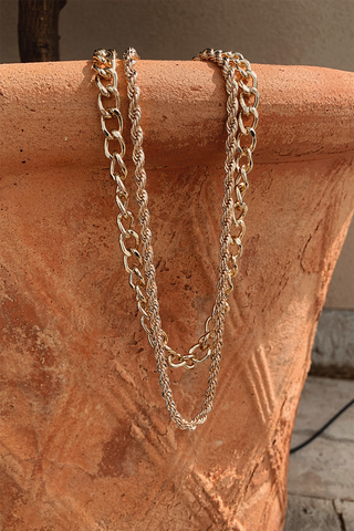 Tammy Double Chain Necklace