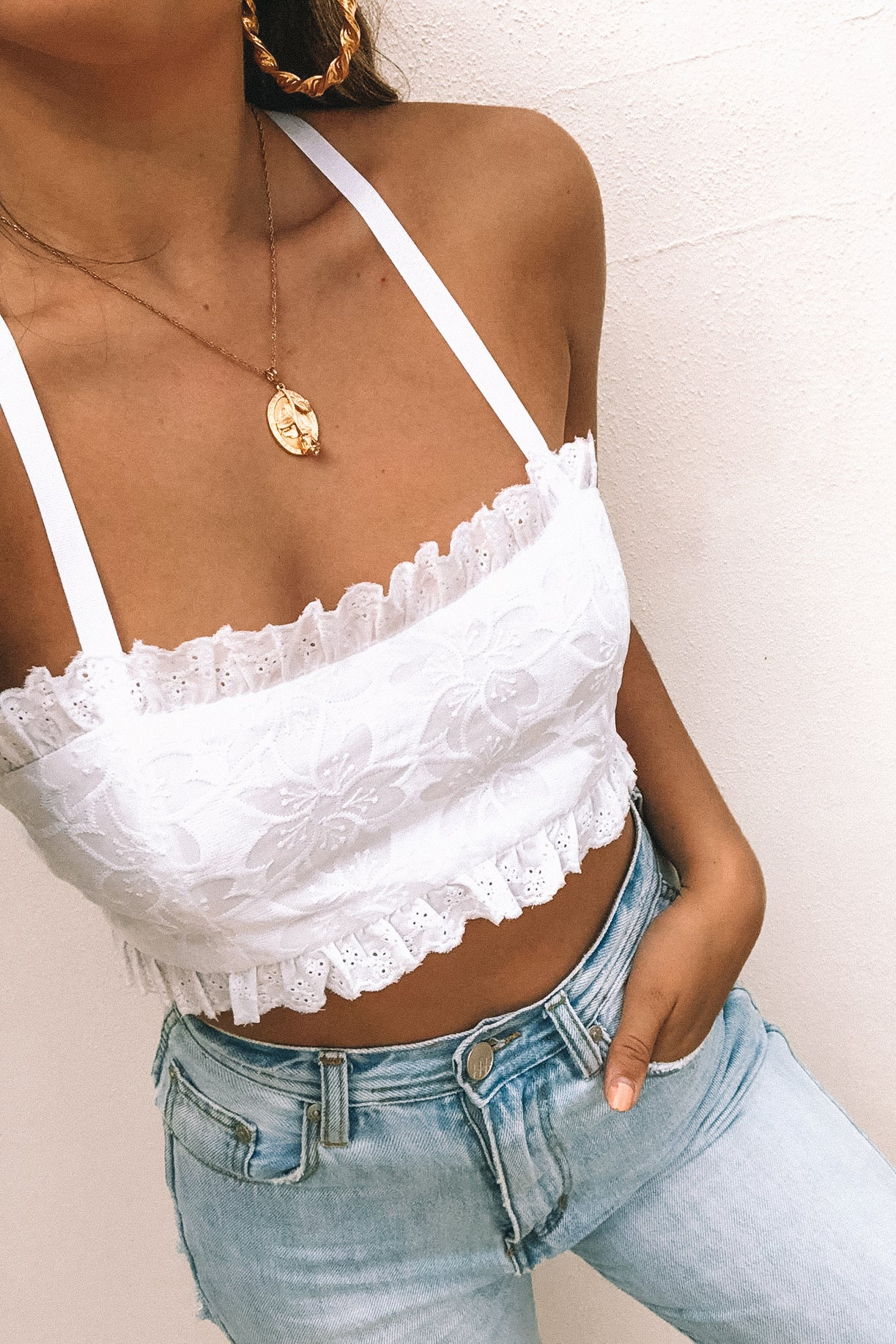 St Tropez Crop - White - Babcia The Label