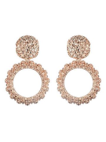 Priscilla Earrings - Rose Gold - Babcia The Label