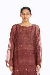 Handwoven Red Jamdani Shift Dress