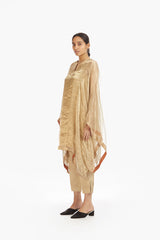 Handwoven Striped Metallic Kaftan