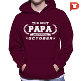 The Best Papa was born in October V.BA Hoodie