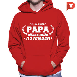 The Best Papa was born in November V.BB Hoodie