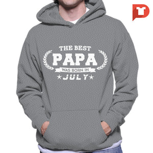 The Best Papa was born in July V.B7 Hoodie