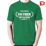 The Best Father was born in July V.B7 Cotton Tee