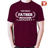 The Best Father was born in January V.B1 Cotton Tee