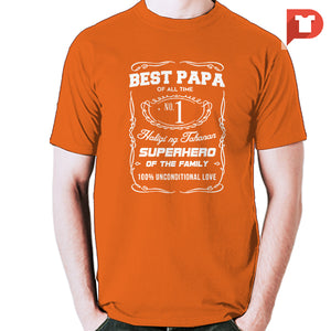 Best papa (Jack Daniels inspired) V.57 Cotton Tee