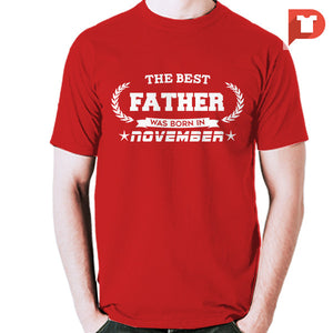 The Best Father was born in November V.BB Cotton Tee