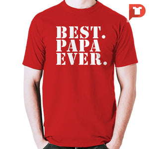 Best Papa Ever V.91 Cotton Tee
