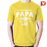 The Best Papa was born as Leo V.C8 Cotton Tee